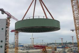 Installation of reactor support truss of Unit 2 at Rooppur NPP construction site is completed